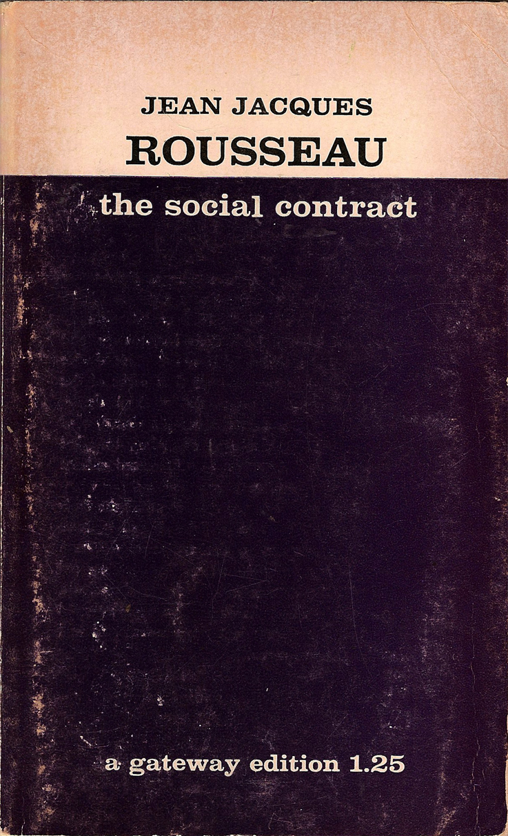 Rousseau the social contract 183 rabbit and cat vintage books
