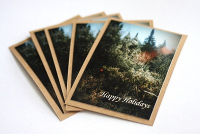 Photo gift tag - happy holidays - set of five