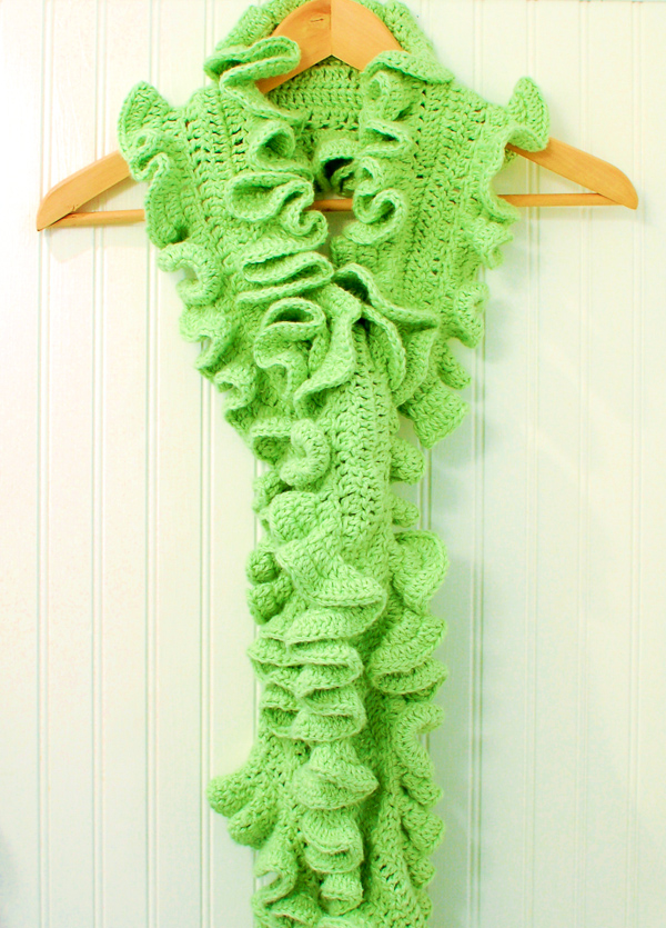 Crochet Patterns Ruffle Scarf : Crochet Pattern - Livy Ruffle Scarf Crochet Pattern ? Petals to ...