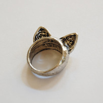 SALE-Cat Ears Ring - Thumbnail 2
