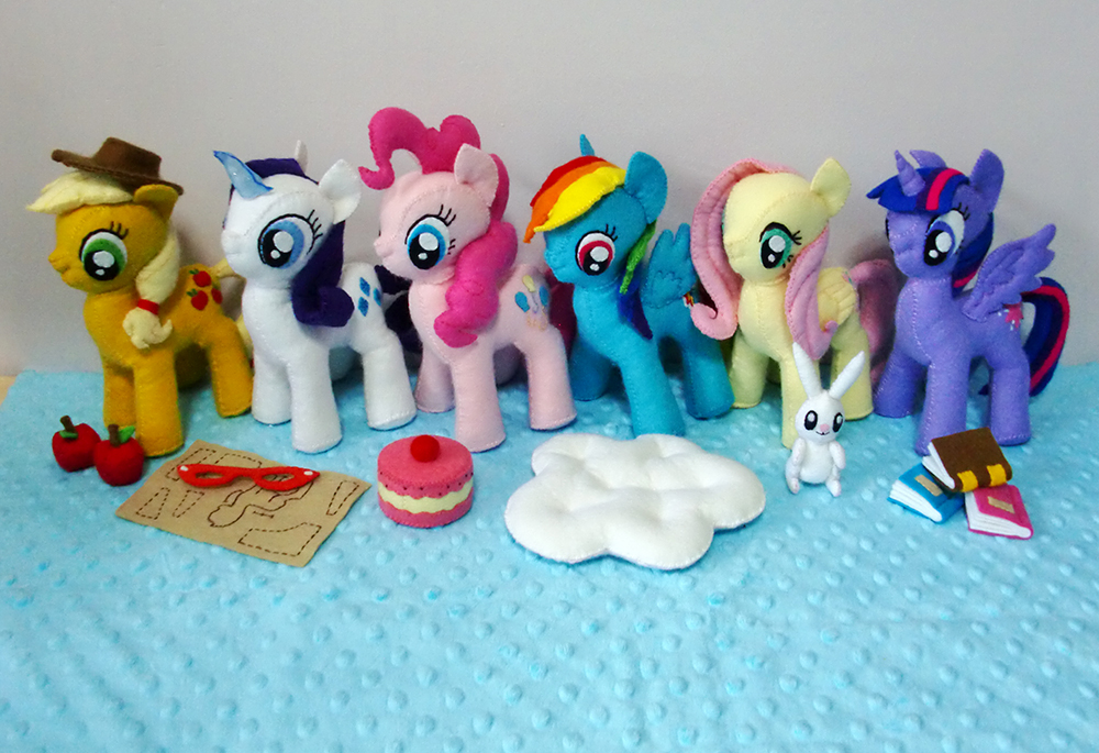 Как сшить мягкую игрушку пони Дружба это Чудо