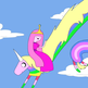 Adventure_time_-_princess_bubblegum_and_lady_rainicorn