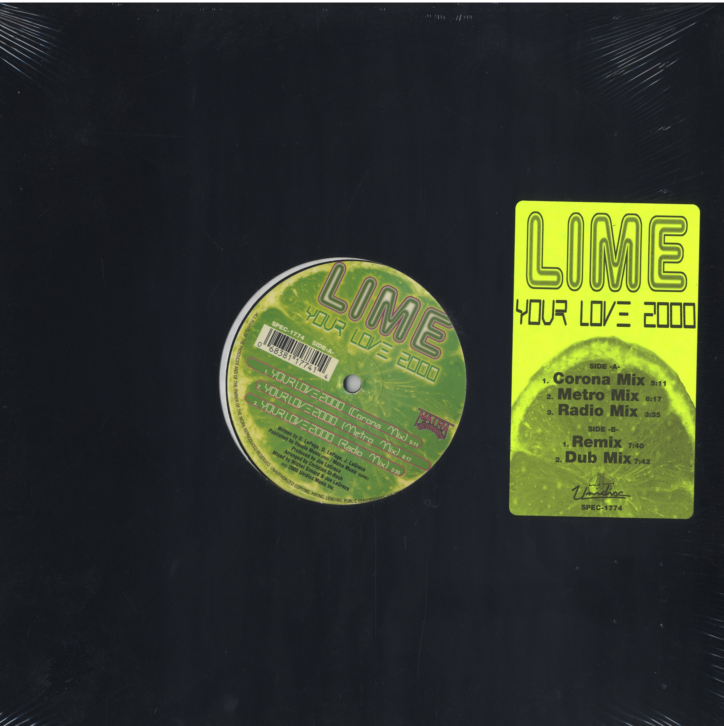 Lime - Your Love 2000 12
