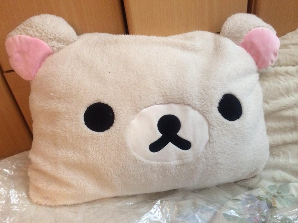 Relax X Due.High Quality Fuzzy Rilakkuma San X Relax Bear Pillows Plush Hold Pillow Big Size