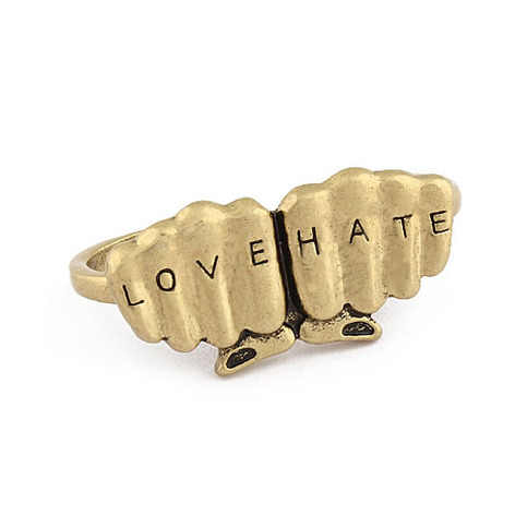 love hate ring