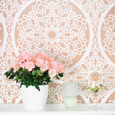 Charlotte Allover Stencil Pattern - Reusable wall stencils for easy DIY  home decor! sold by Cutting Edge Stencils