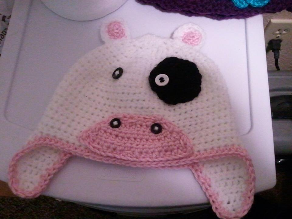 Cleverly Crafty Crochet Cow Hat Online Store Powered By Storenvy