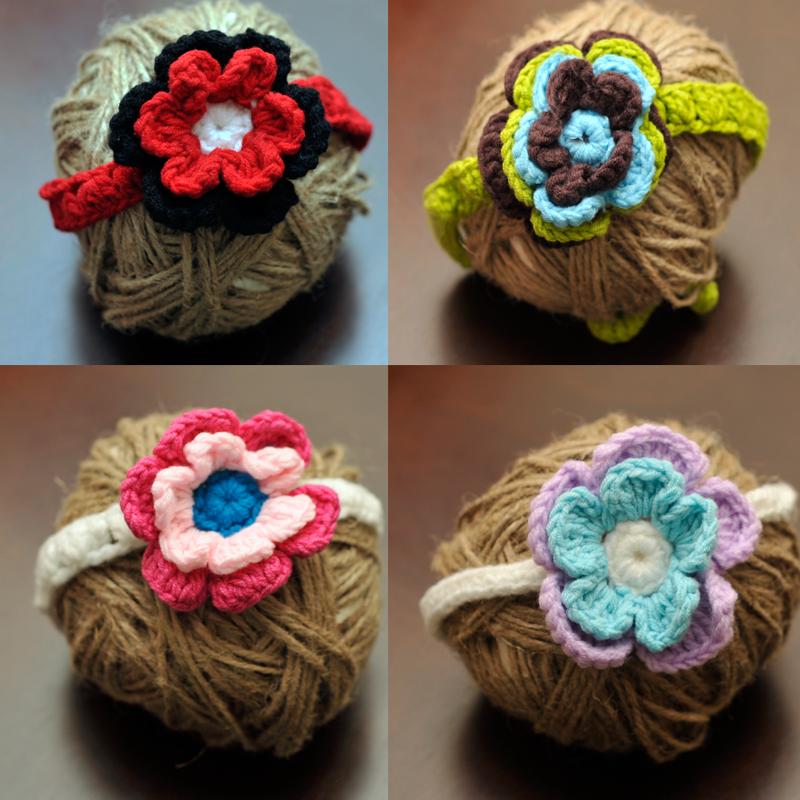 Crochet Flower Tieback Headbands On Storenvy
