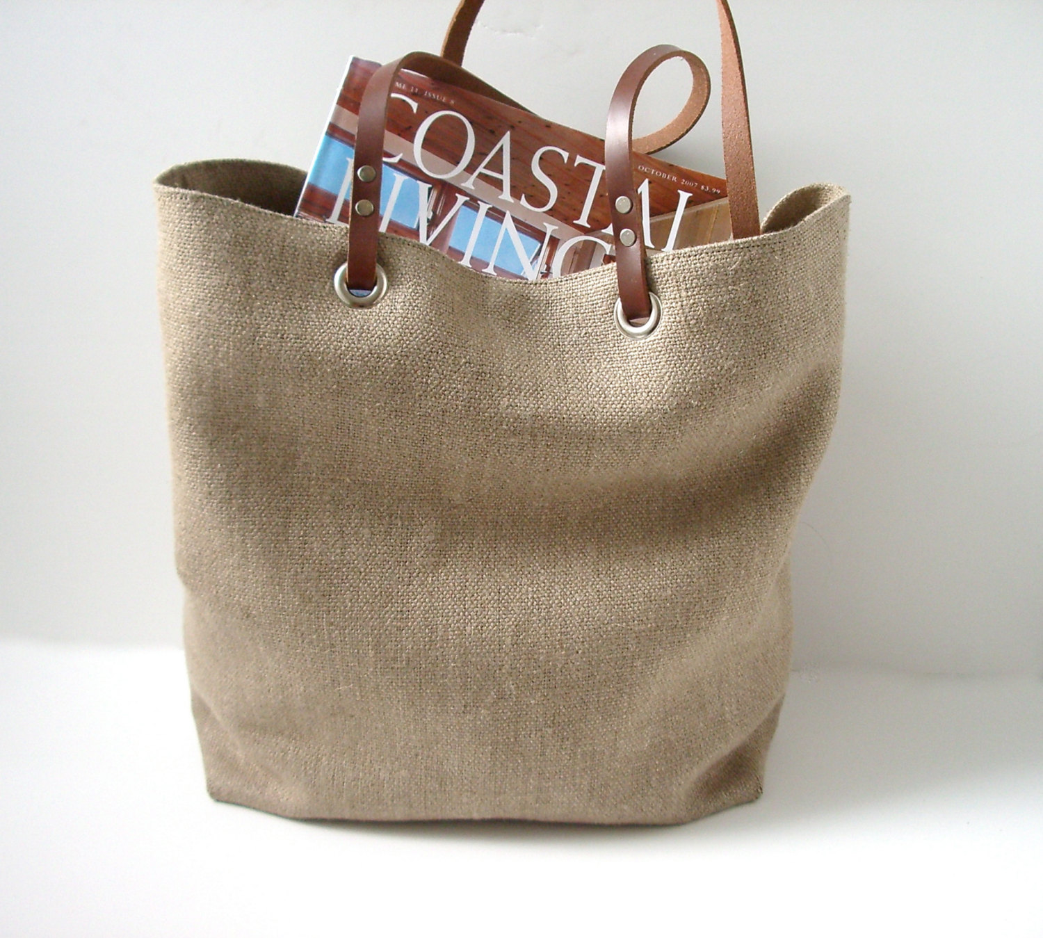 Woven Jute Beach Bag, Summer Bag on Storenvy