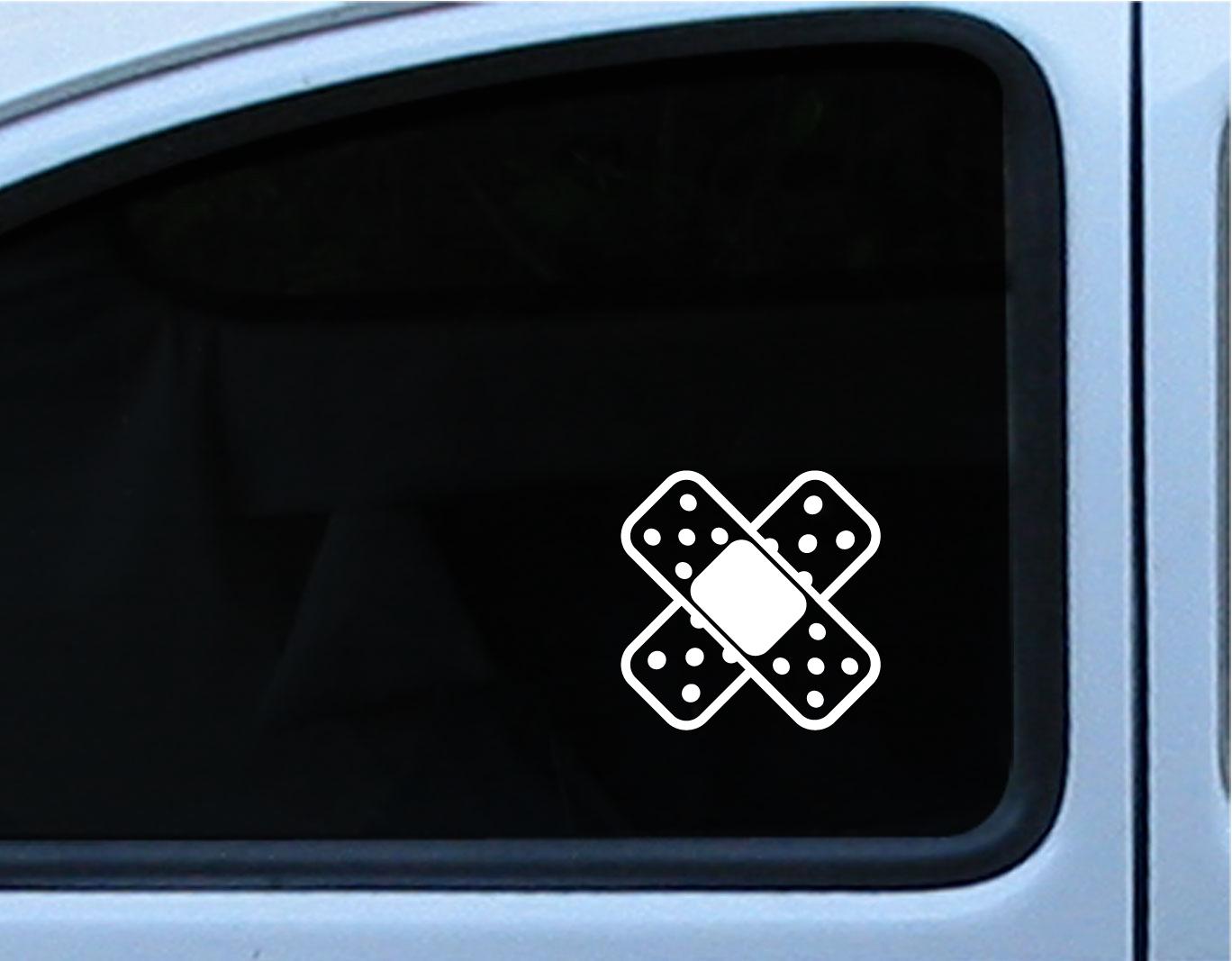 2 4 x shape cross band aid bandaid car bumper scratch