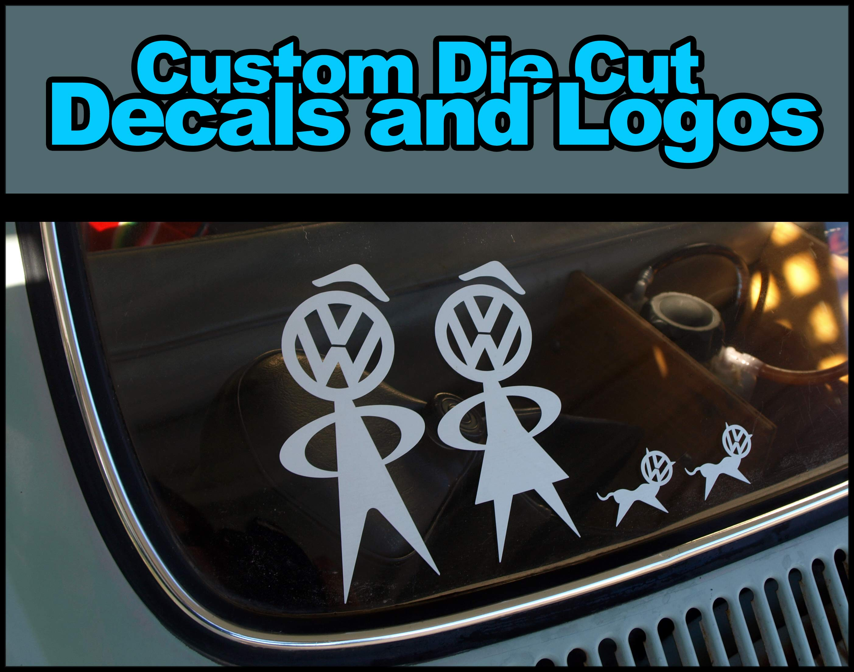 Personalized custom die cut vinyl decals and logos 6 x 6 from stick it die cut stickers