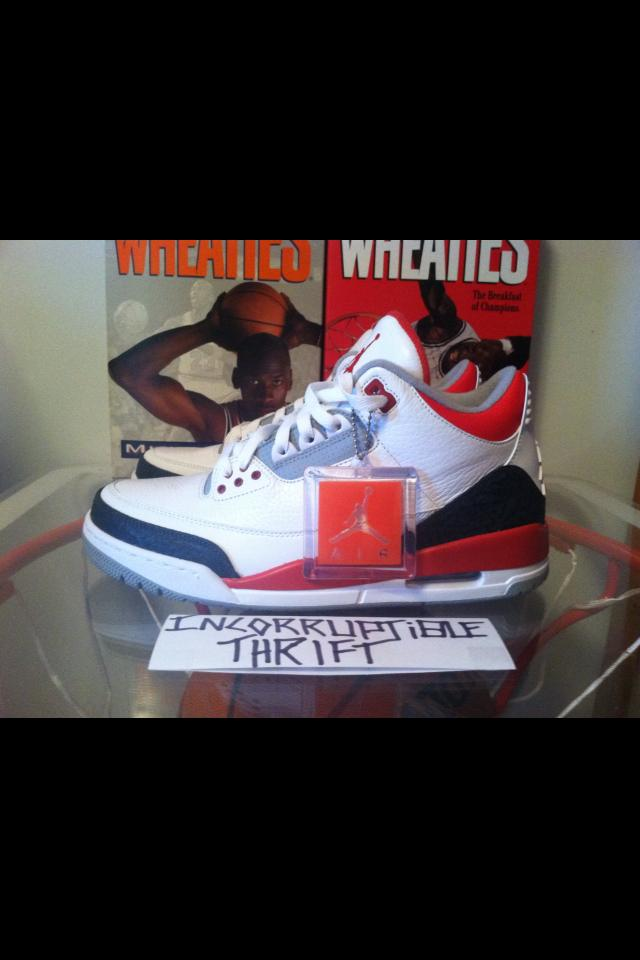 42512196c01c1a Fire Red Air Jordan 3s · Incorruptible Thrift Shop · Online Store ...