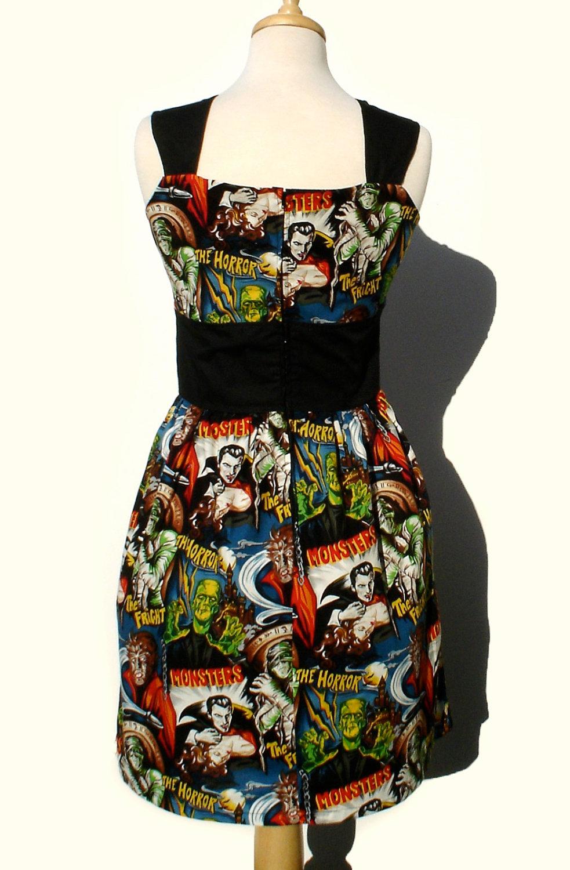 Rockabilly Pinup Dress Classic Pinup Dress Monsters
