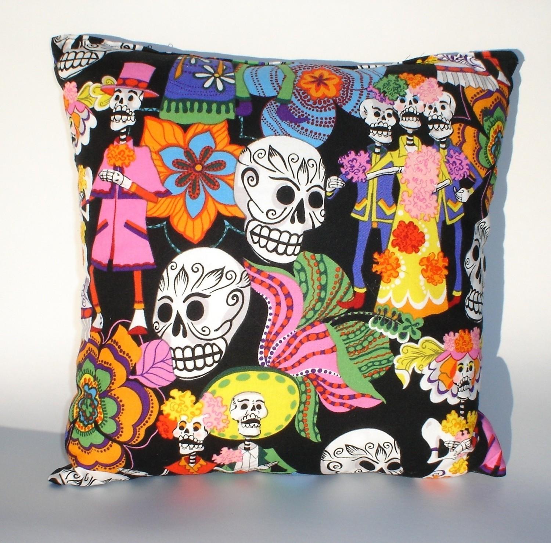 262e80f9d19 Day of the Dead -Dia De Los Muertos throw Pillow rockabilly ...