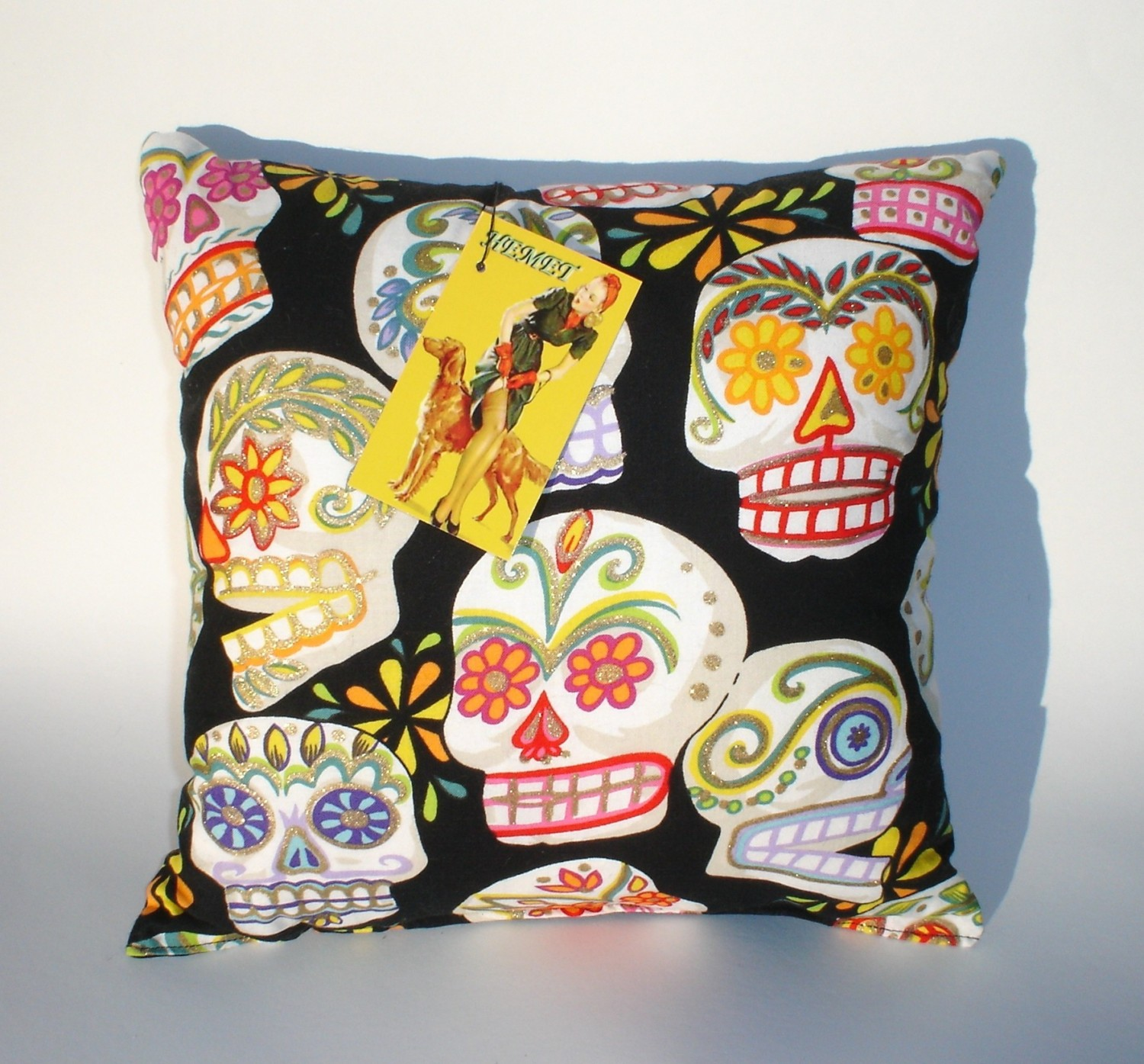 Pillow Day Of The Dead Dia De Los Muertos Sugar Skull