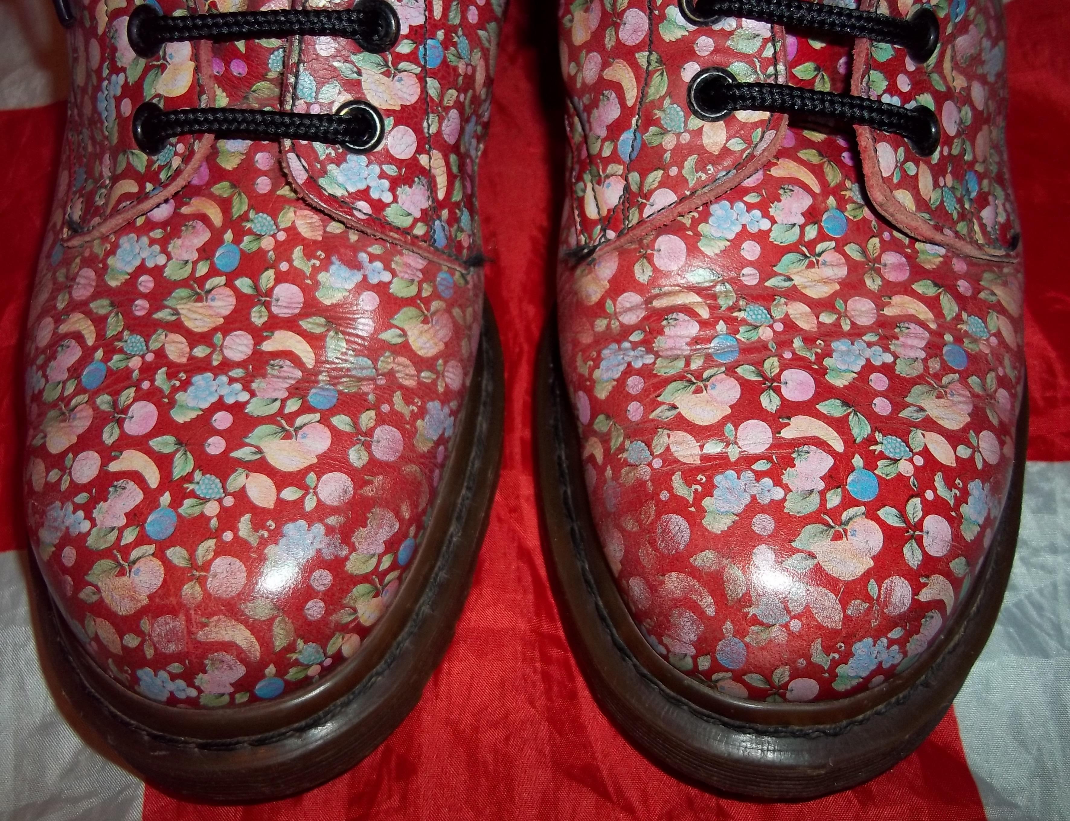 308d511666e RARE Vintage 90s Fruit Dr Doc Martens - Hippy Unique Floral - UK 7*EU 39*US  9 on Storenvy