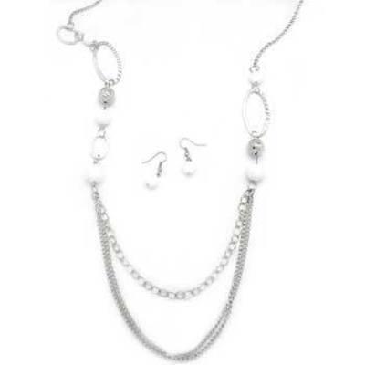 1684d22a9372 Paparazzi Silver and Brown Short Necklace Set · The Epic Boutique ...