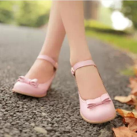 108b513e630 2014 New Pastel Color Lolita Bow Shoes. Three Colors Available on ...
