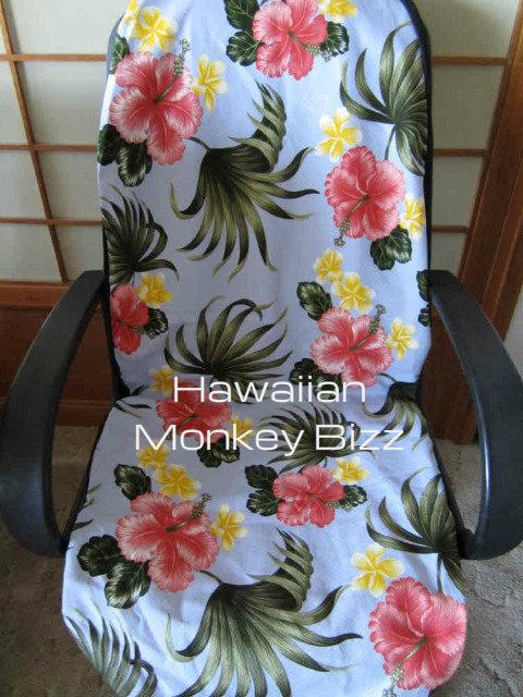 Incredible Light Blue Plumerias Hawaiian Car Seat Covers 2Pc Bark Cloth Sold By Hawaiian Monkey Bizz Ibusinesslaw Wood Chair Design Ideas Ibusinesslaworg
