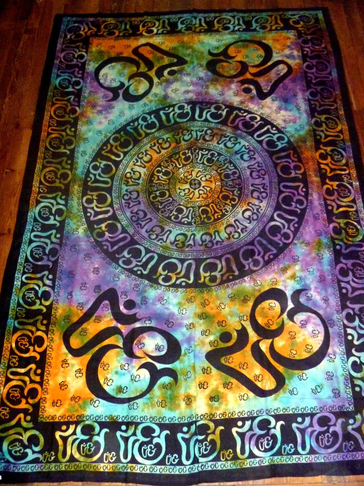 om aum yoga indian chakra tie dye hippie boho india indian