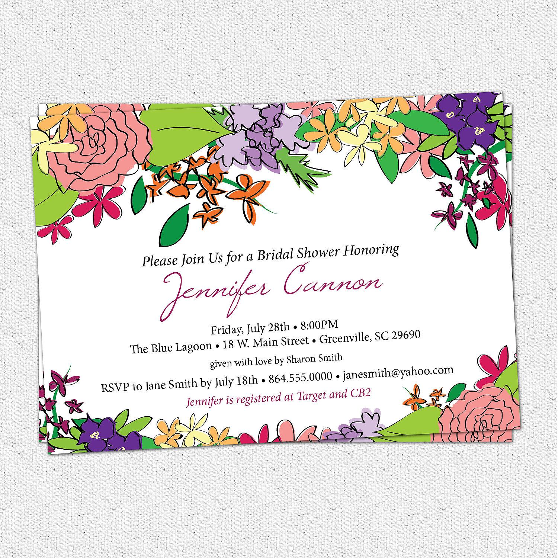 Bridal shower invitations floral garden flowers shabby chic il fullxfull323727706 original stopboris Choice Image