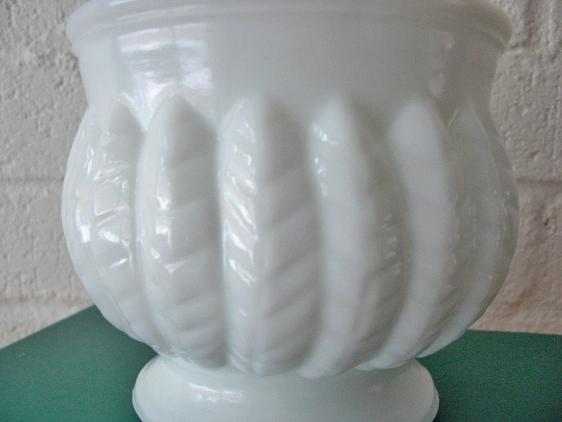 Vintage White Milk Glass Vase Pottery Planter On Storenvy