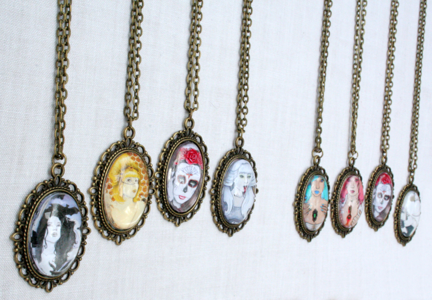 Hematemesis antique bronze gothic art pendant necklace on storenvy sidesmall mozeypictures Choice Image