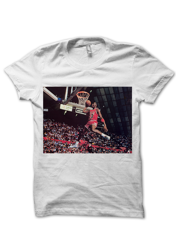 bb21309aa72a MICHAEL JORDAN CLASSIC DUNK T-SHIRT BASKETBALL SHIRTS NBA CELEBRITY ...
