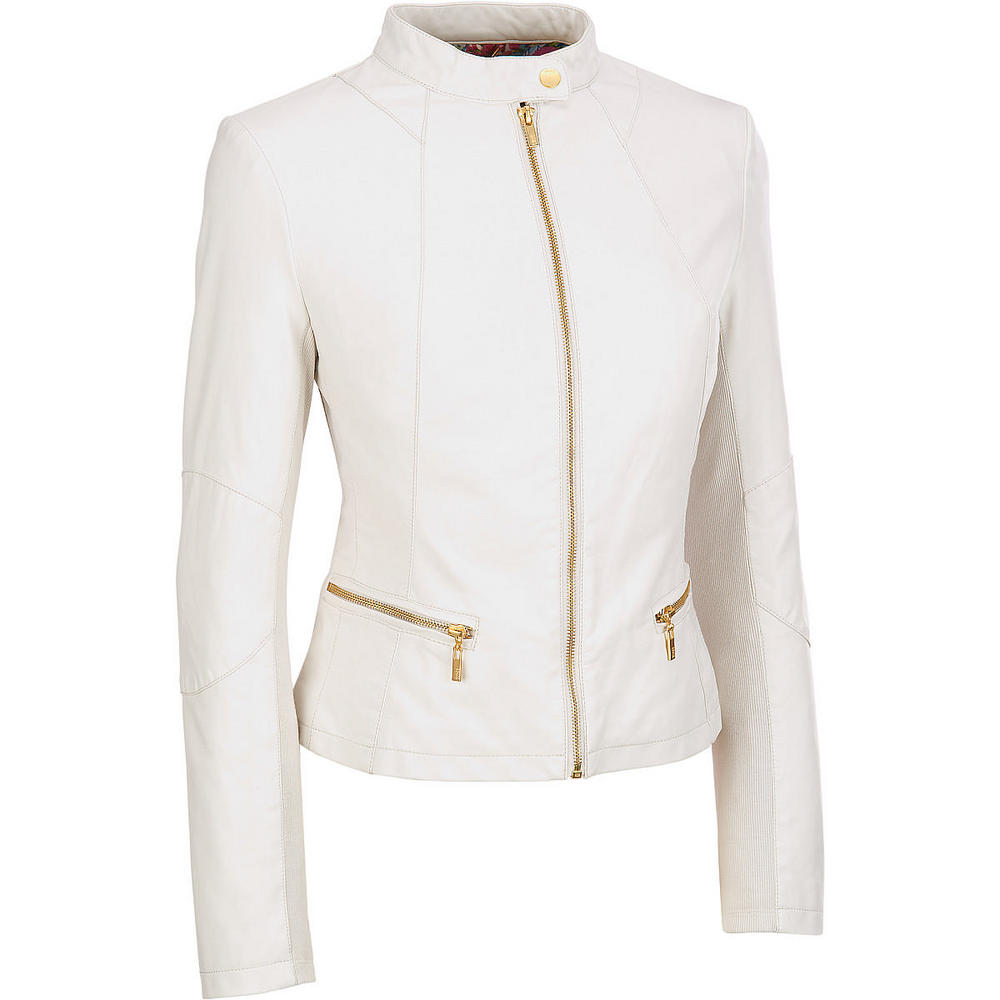 db0b85272 Women white leather jackets, Real leather jacket from Rangoli Collection