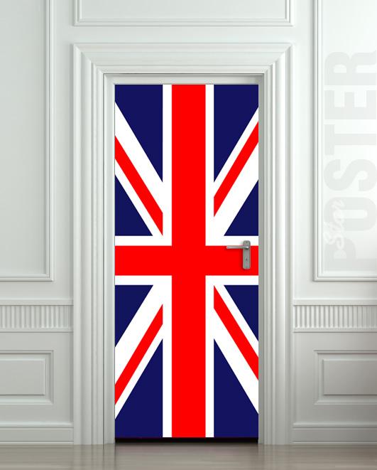 Door Sticker British Flag Uk Banner Great Britain English