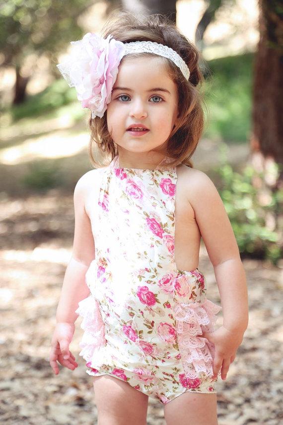 5f24ef9731c Baby girl lace romper  onesie on Storenvy