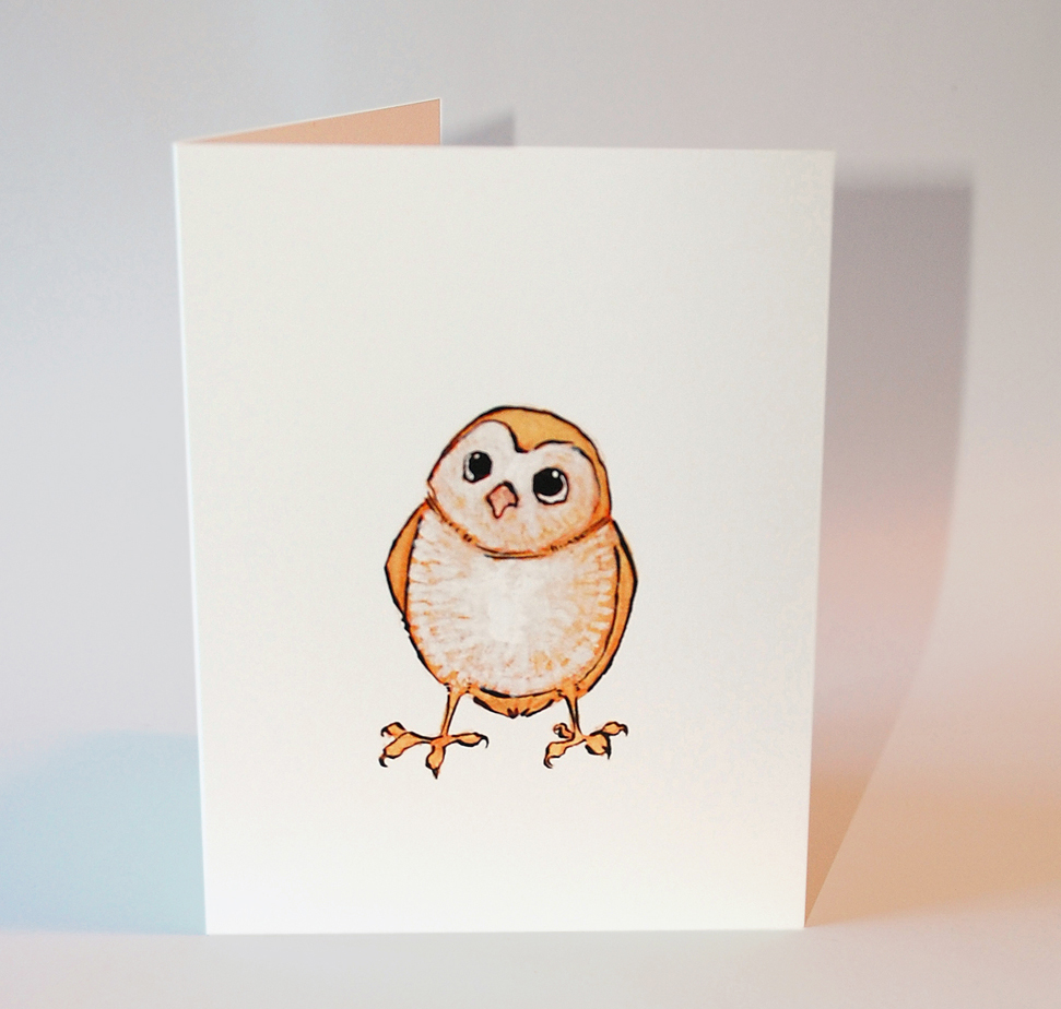 Baby owl greeting card flat cat studio online store powered by baby owl greeting card thumbnail 1 m4hsunfo