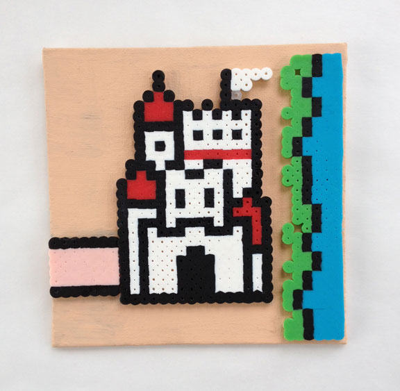 Castle 1 from Super Mario Bros 3, bead sprite on canvas sold by Jandrem  Designs
