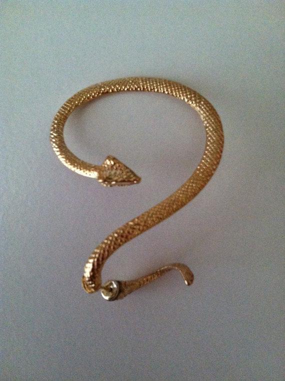 Snake Ear Wrap Cuff Earring Gold 183 Shop Tiffona Fontee