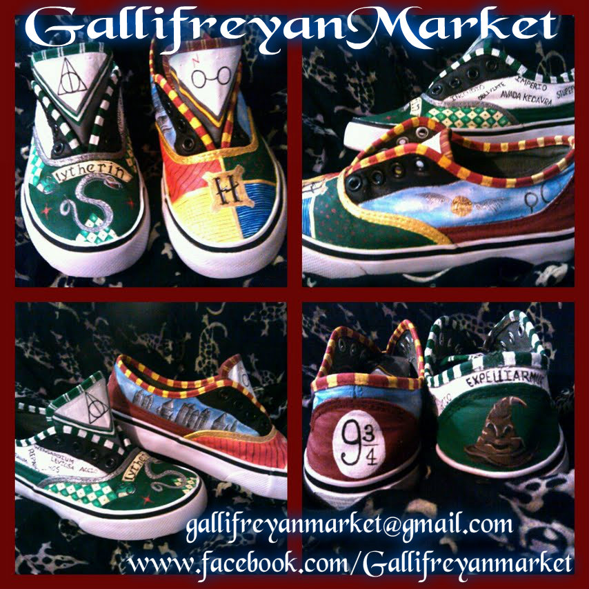 402b672ff12c Hand Painted Shoes Inspired by Harry Potter ( Vans