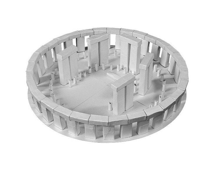 Stonehenge Paper Model Craft Kit from Paperlandmarks