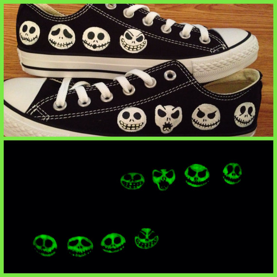 9c6fc9095c84 Nightmare Before Christmas Hand Painted Converse Shoes on Storenvy