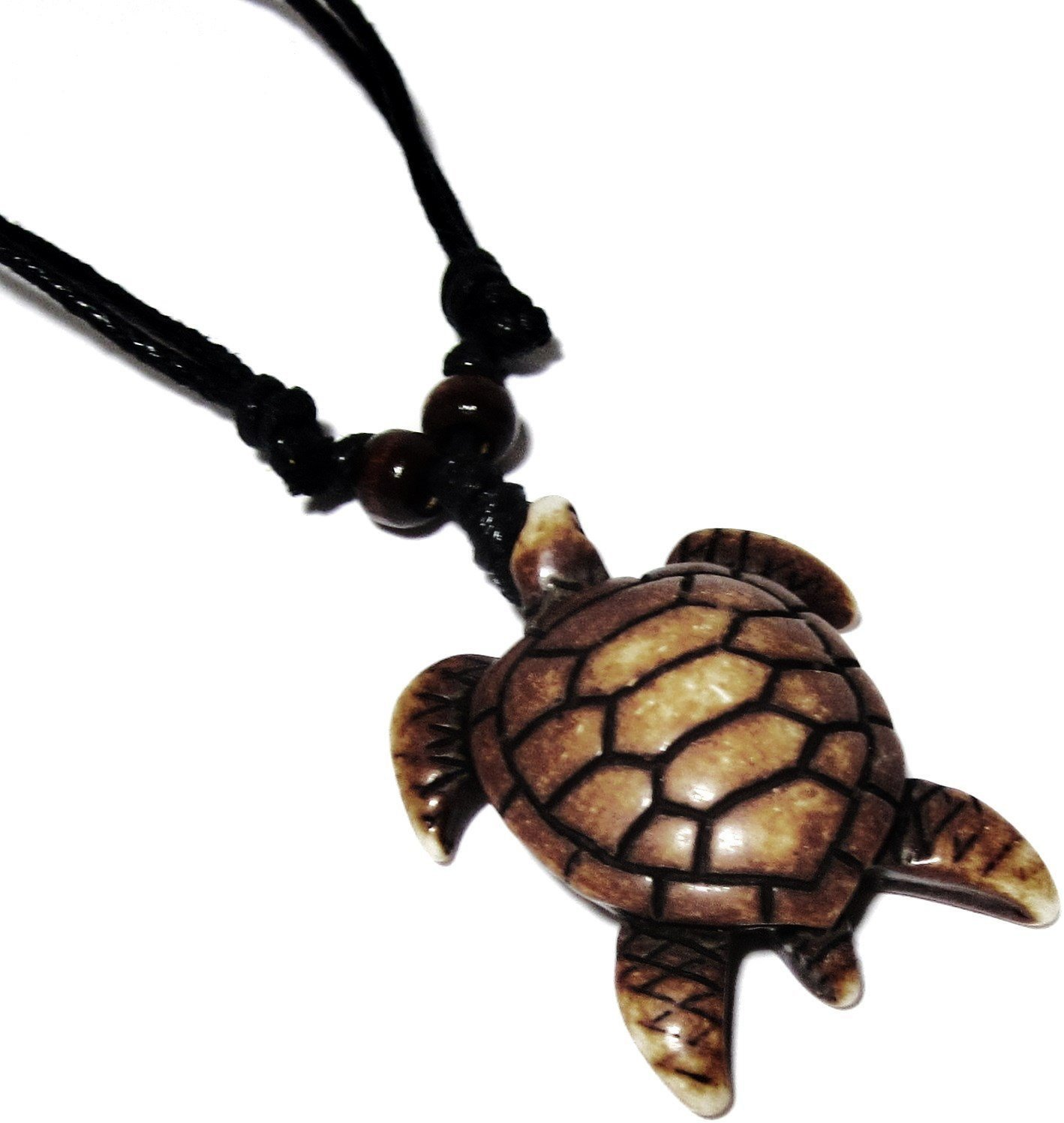 Sea Turtle Necklace Wnormal Sea Turtle Pattern Shell Design Brown