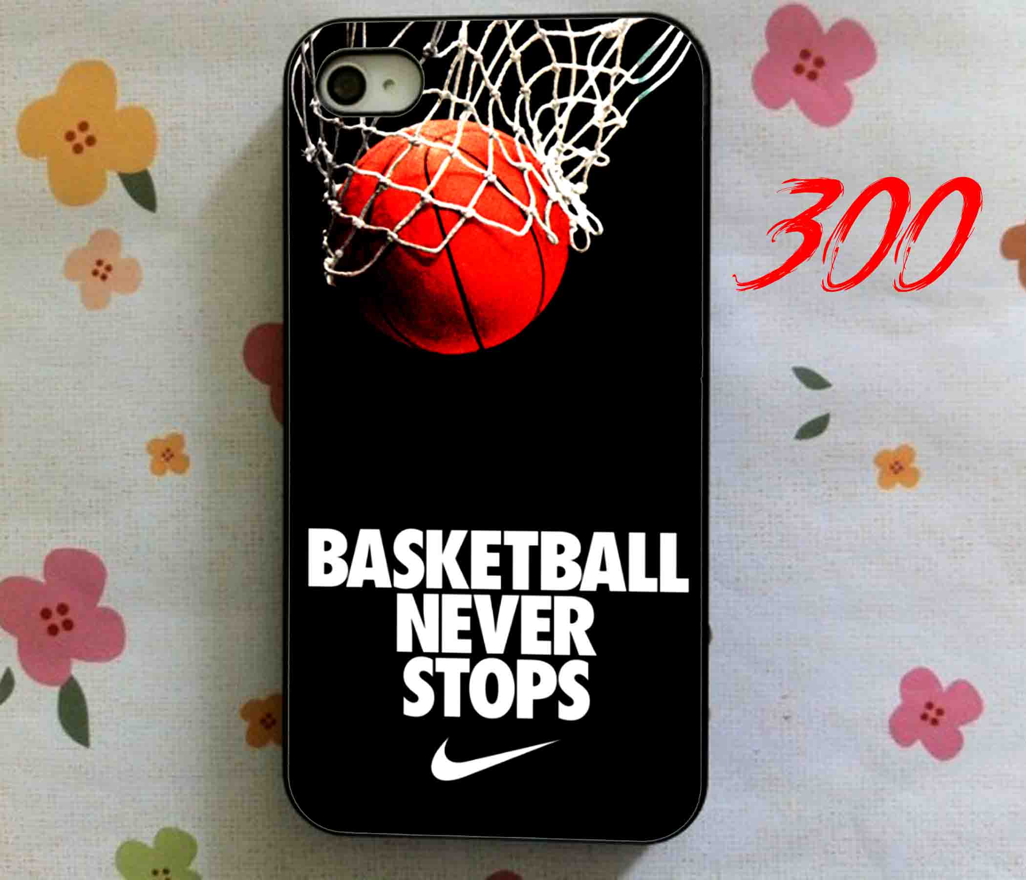 huge discount 90087 28a61 Basketball Never Stop, iPhone Case, Samsung Galaxy Case, iPad Case from  ThreeHundred