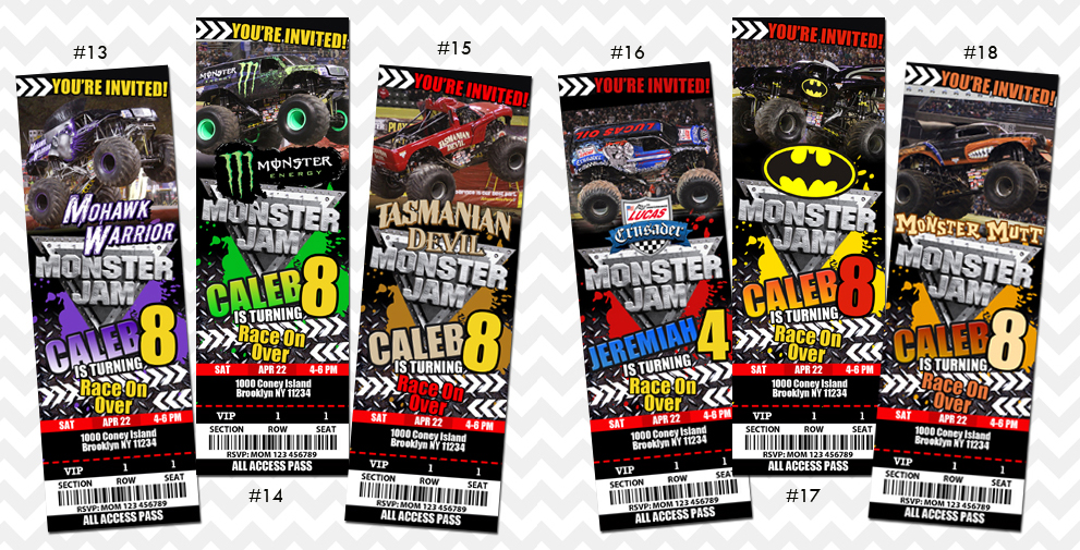 Monster Jam Invitation on Storenvy