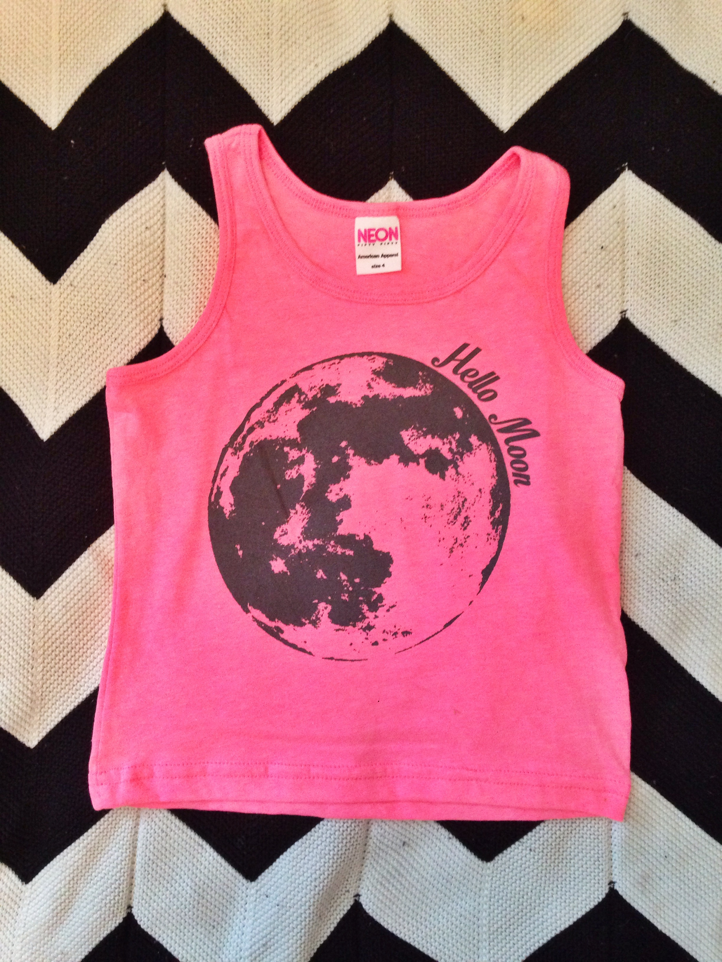 9edba3c73b3a HELLO MOON Kids tank in black or pink · The Stag & The Swan · Online ...