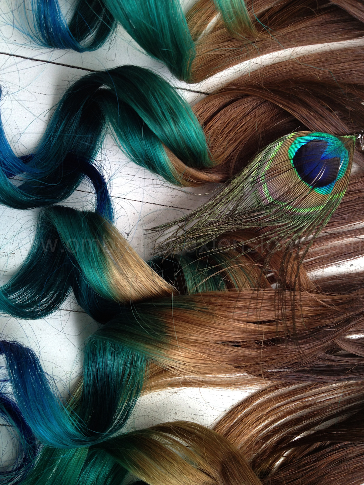 Peacock Feather Hair Extensions//Peacock Ombre//Peacock ...