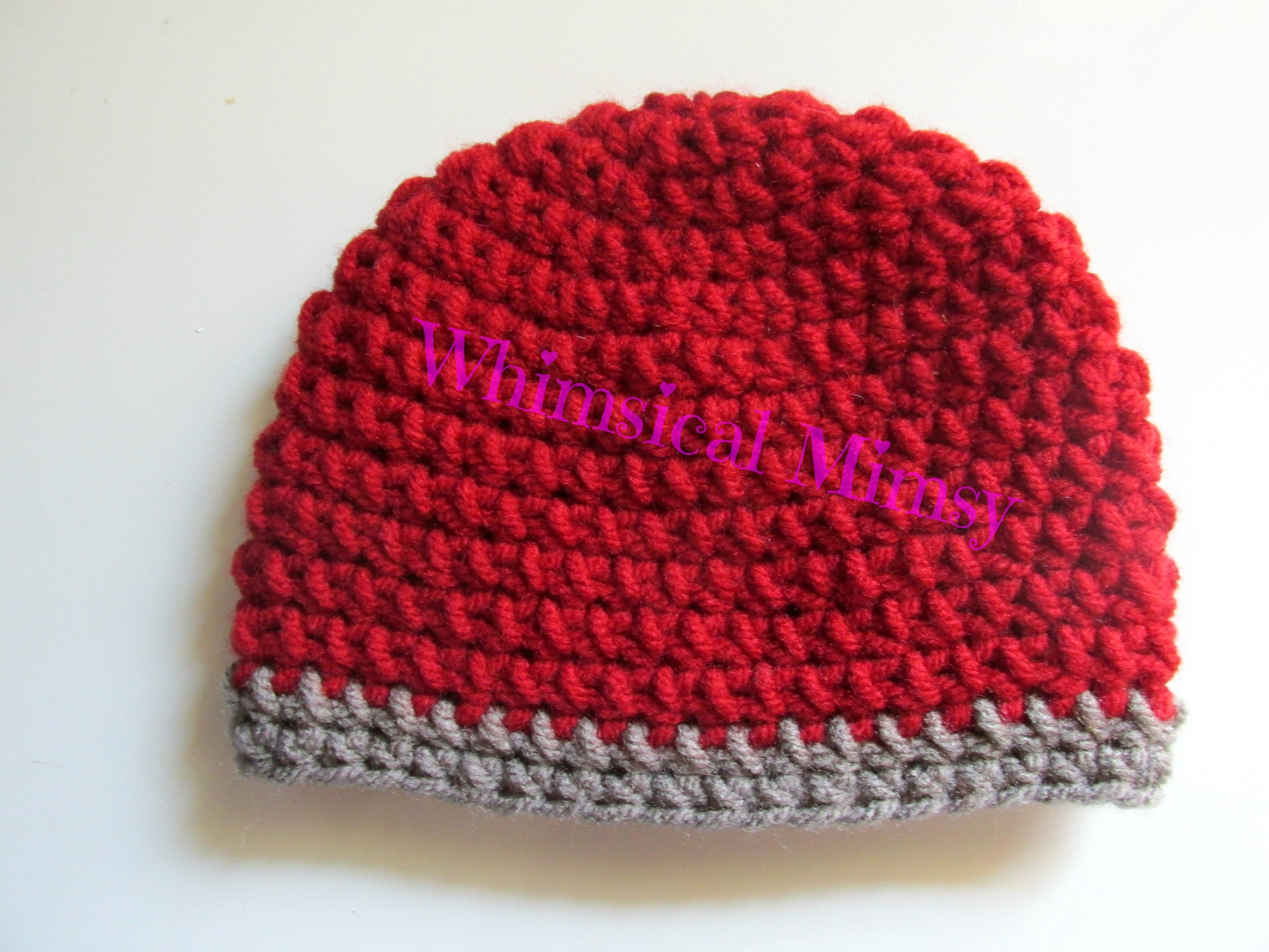 9656d10f915 ... Crochet Alabama Football Inspired Newborn Hat and Diaper Cover Set  Photo Prop - Thumbnail 4