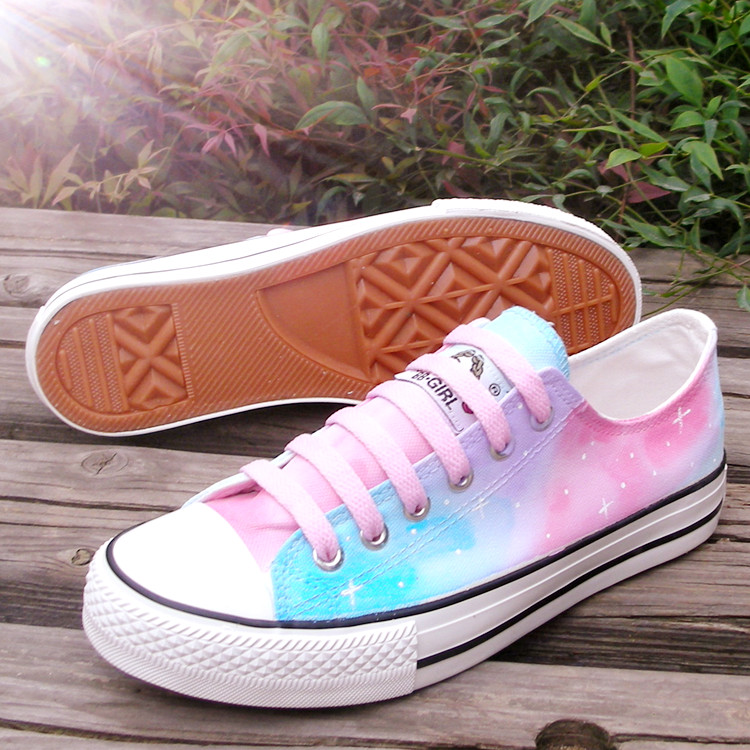 5442cb74df1b74 Harajuku Star-painted canvas shoes · Harajuku fashion · Online Store ...