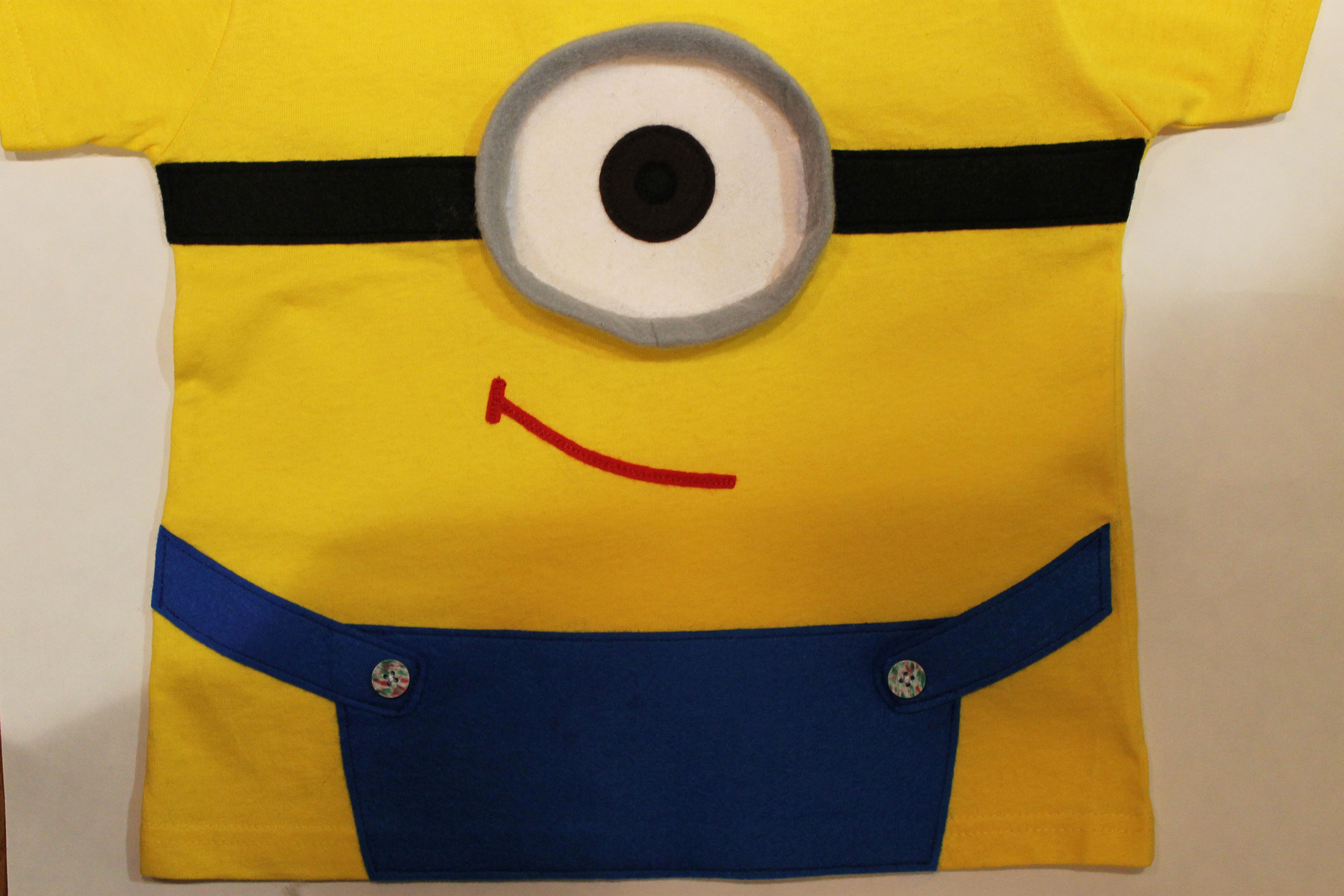 One eyed minion t shirt applique for kids inspired by despicable