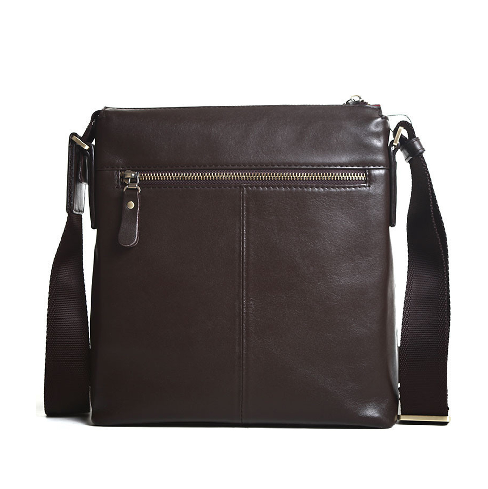 123b13baa2bc Men s cowhide leather workbag city courier bag messenger crossbody bag  tablet bag brown 8 small