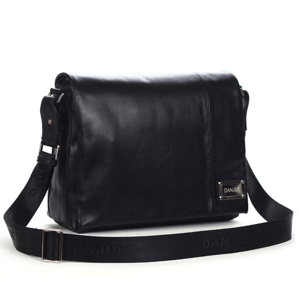 b167ecb0f748 Men s Cowhide Leather Flapover Workbag City Courier Bag Messenger Crossbody  Bag 12