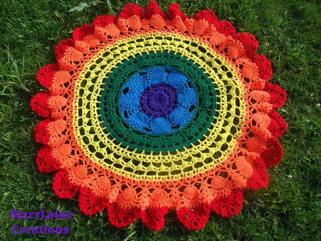 Rainbow Baby Blanket Crochet Starrlaine Creations Online Store