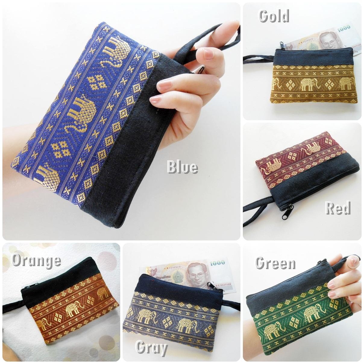 Zipper purse,cotton Purse Thai Cotton Purse,Coin Purse Handmade Purse FL121