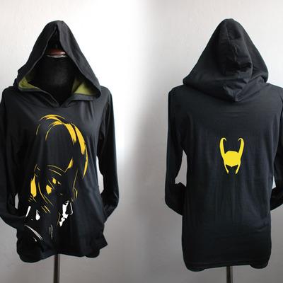 d42a8756 Loki hoodie without front pocket :loki highlight and loki helmet on the  back printed sweatshirt